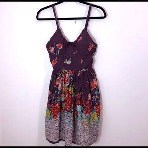 Y2K floral lace sundress